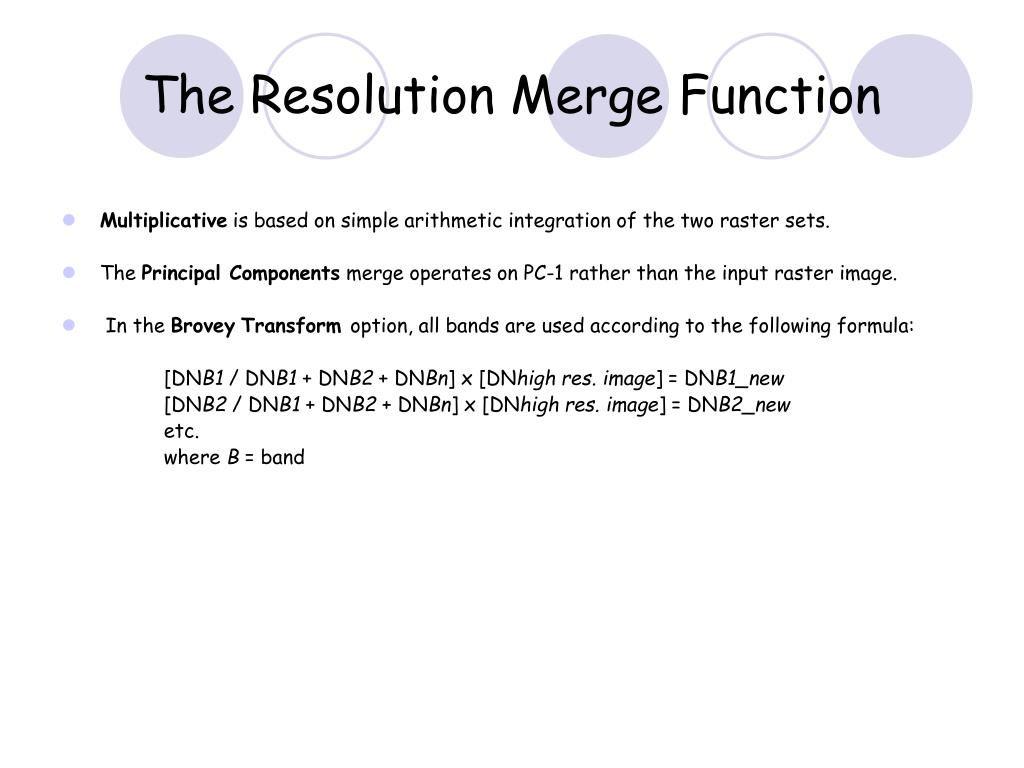 The Resolution Merge Function