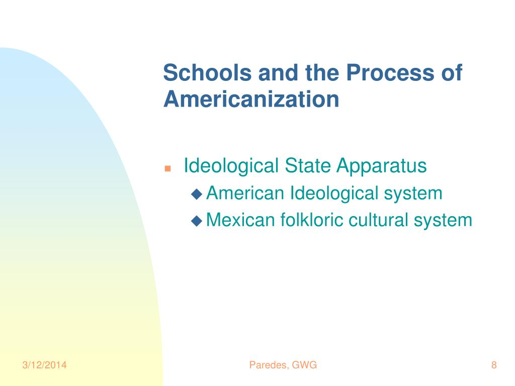 Schools and the Process of Americanization
