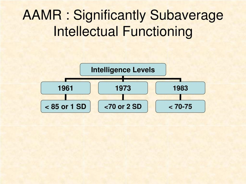 AAMR : Significantly Subaverage Intellectual Functioning
