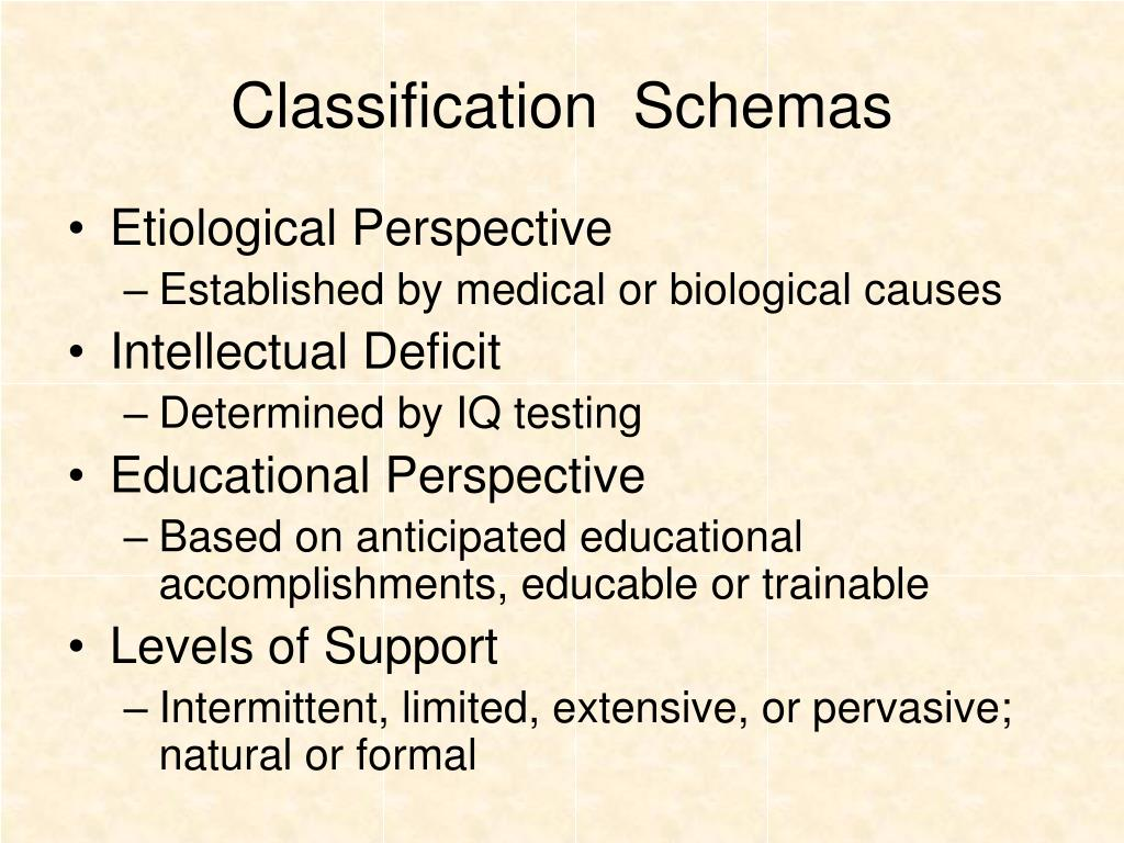 Classification  Schemas