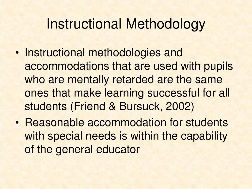 Instructional Methodology