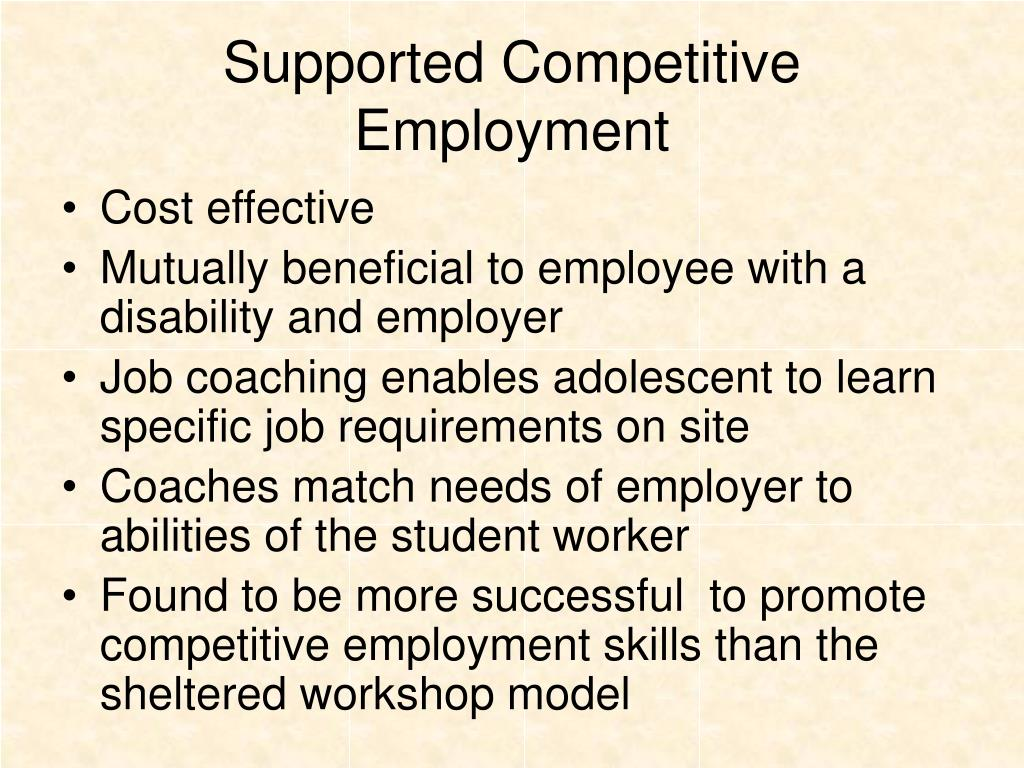 Supported Competitive Employment