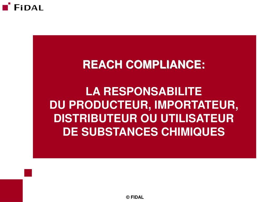 REACH COMPLIANCE: