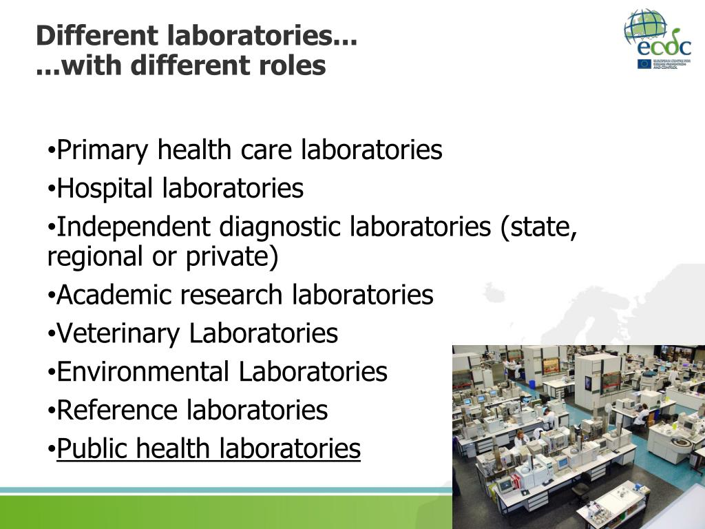 Different laboratories...