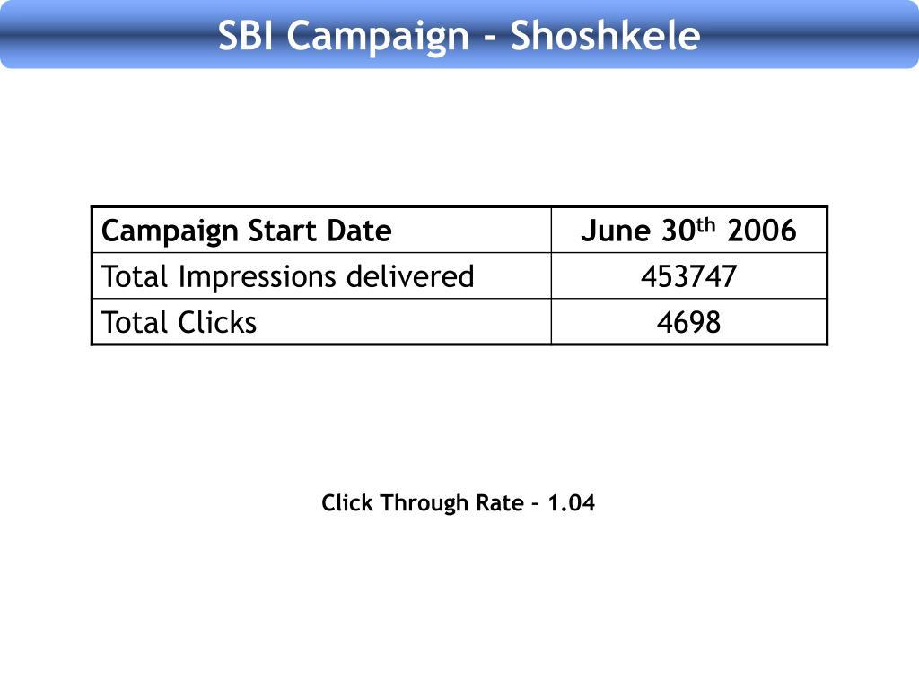 SBI Campaign - Shoshkele