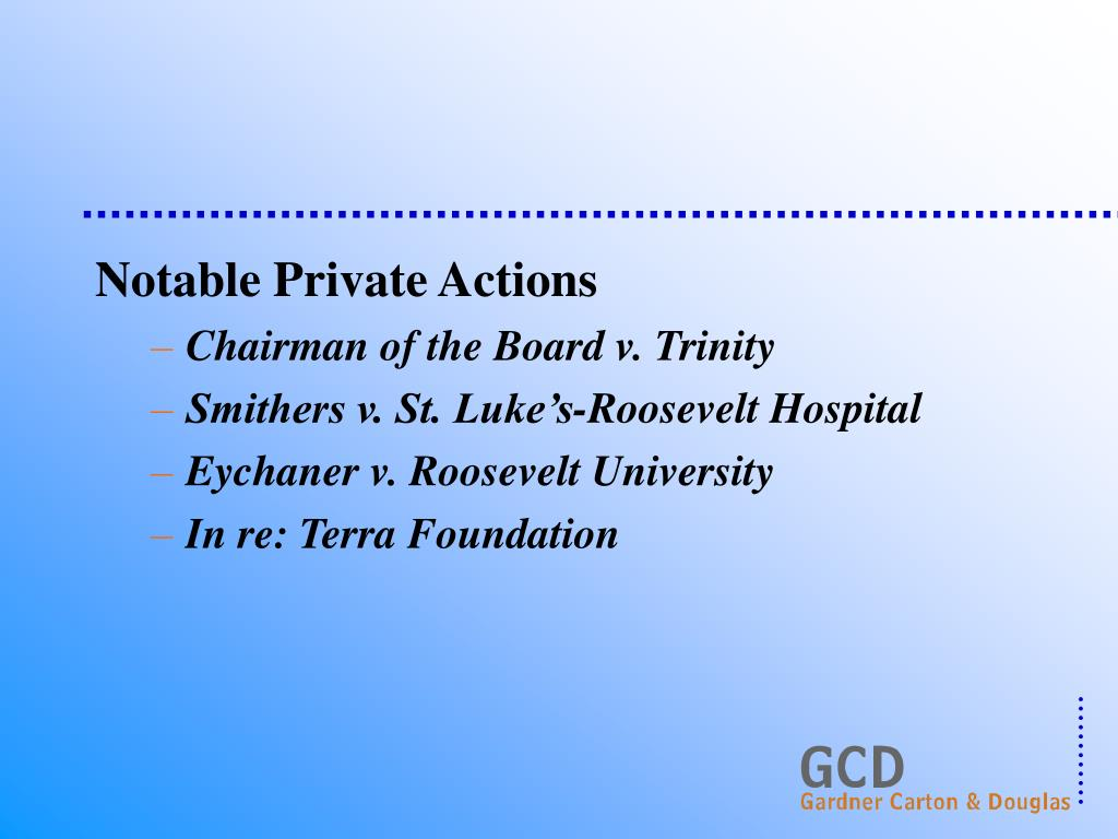 Notable Private Actions