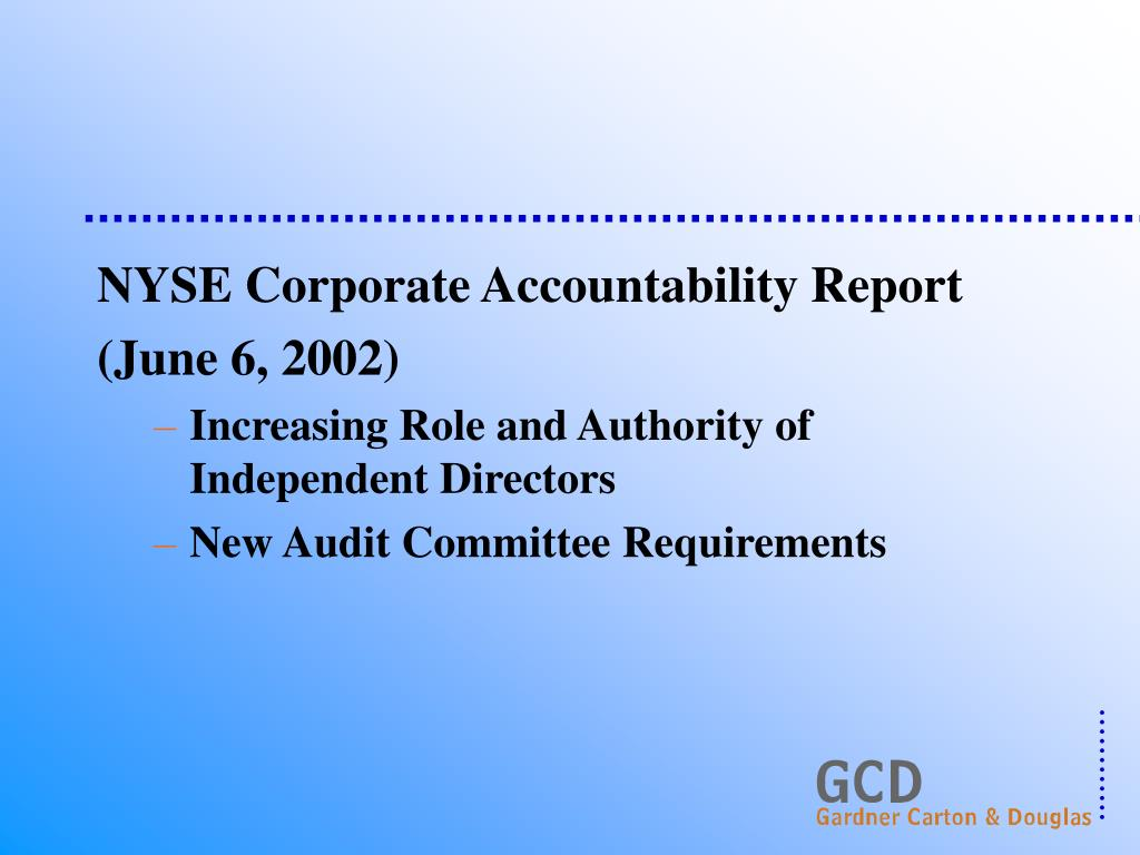 NYSE Corporate Accountability Report