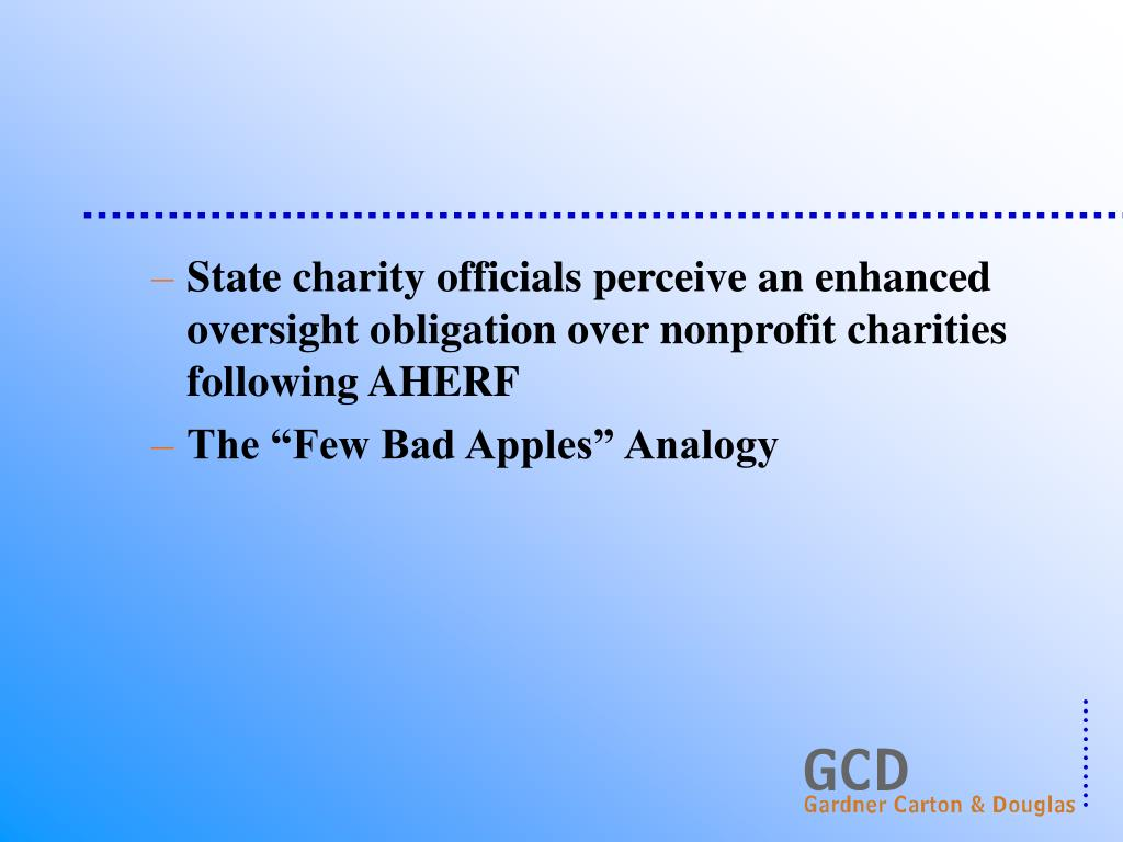 State charity officials perceive an enhanced oversight obligation over nonprofit charities following AHERF