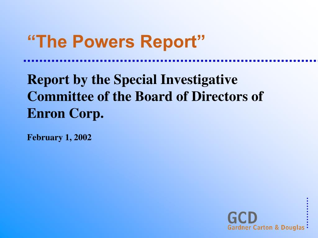 """The Powers Report"""
