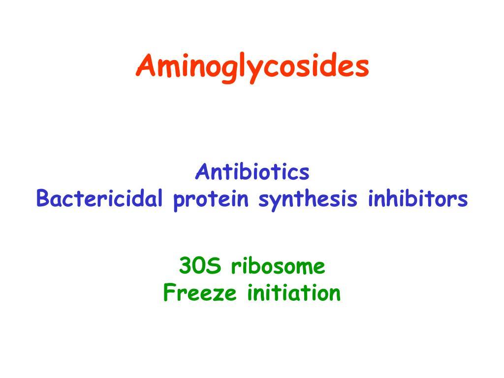 Aminoglycosides