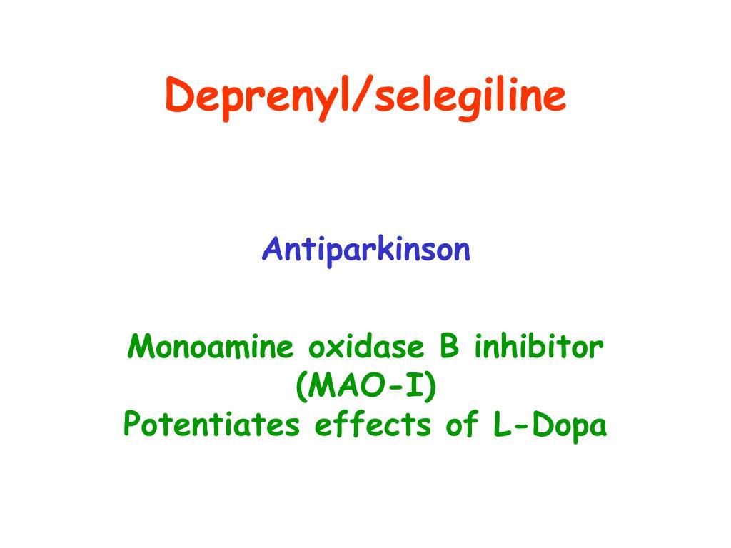 Deprenyl/selegiline