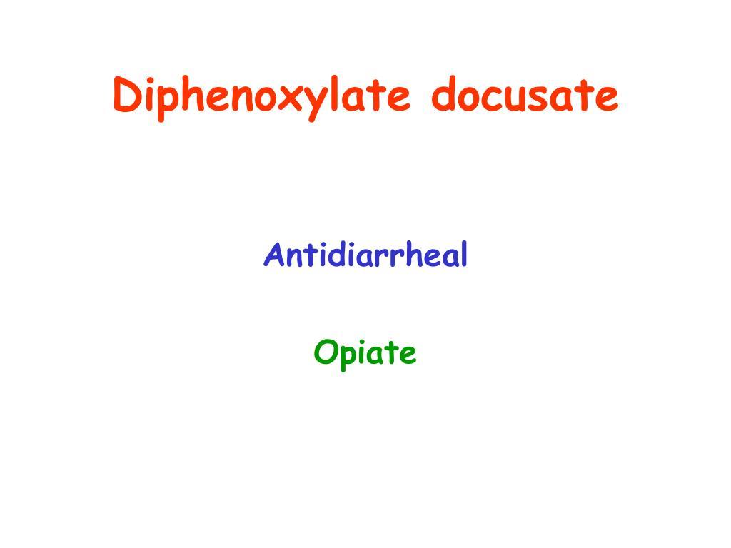Diphenoxylate docusate