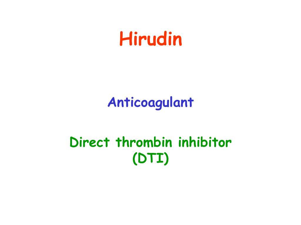 Hirudin