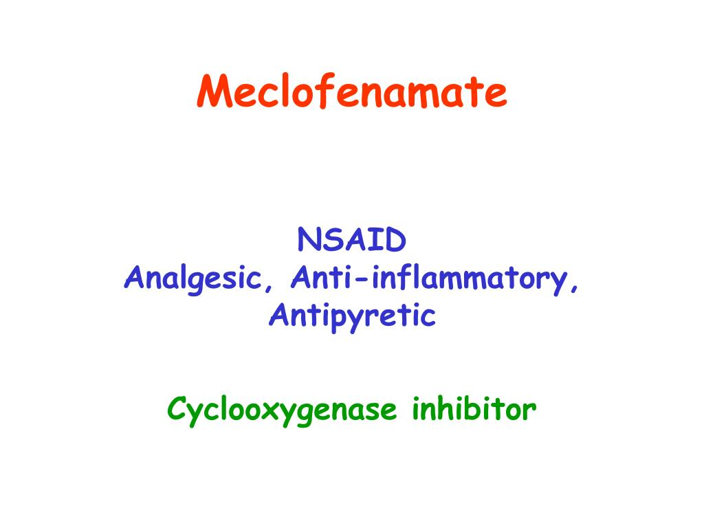 Meclofenamate
