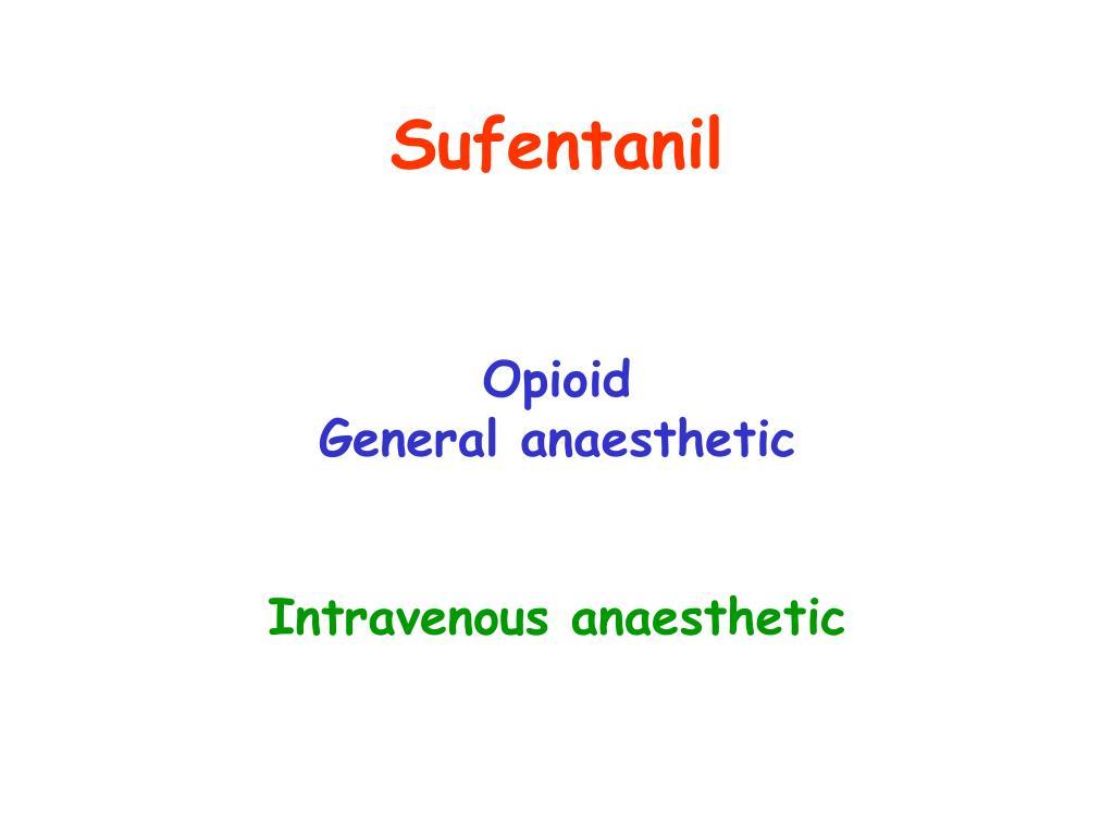 Sufentanil