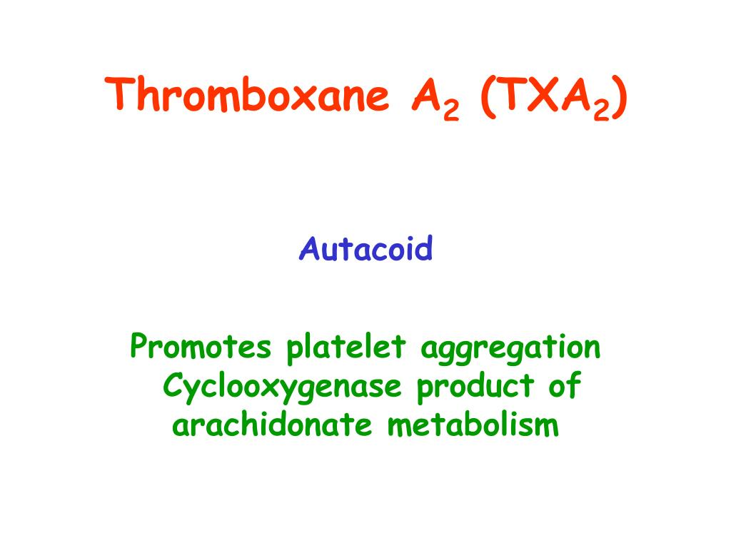 Thromboxane A