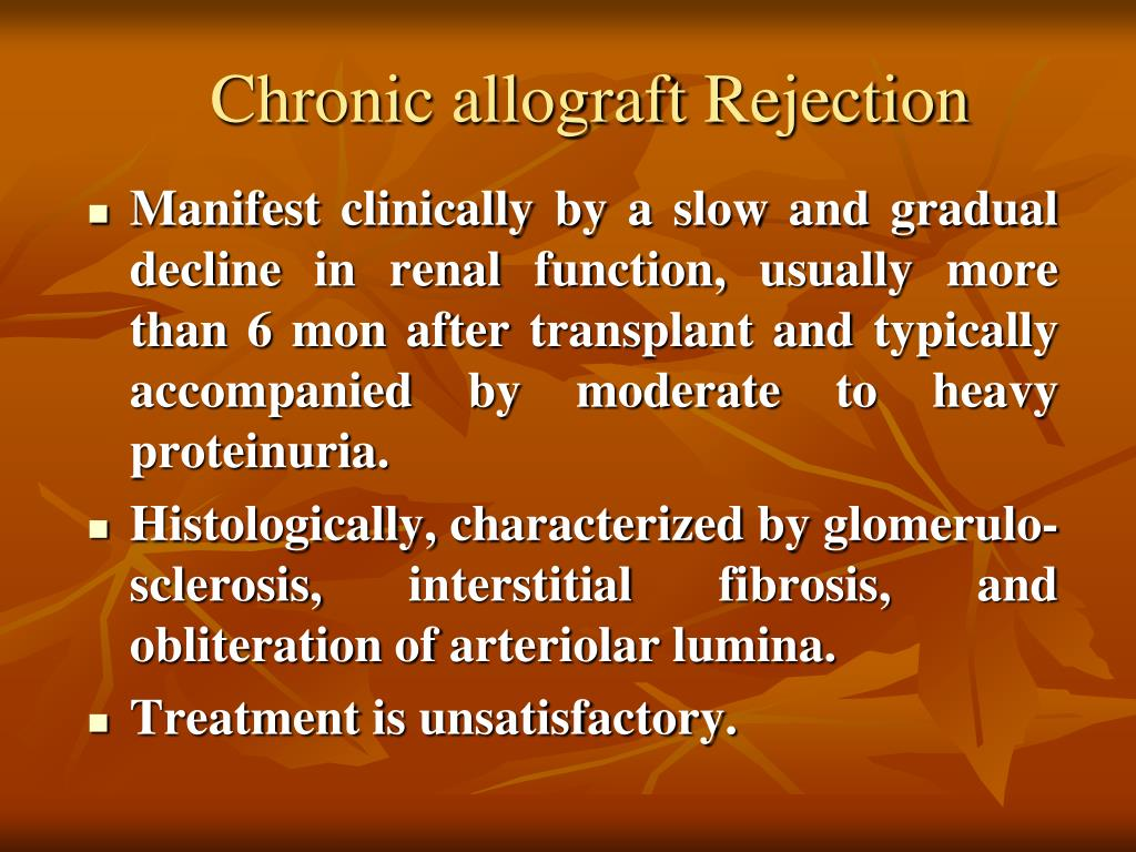 Chronic allograft Rejection