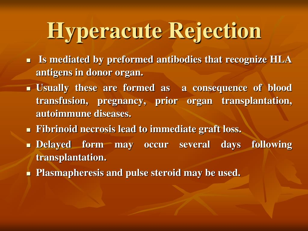 Hyperacute Rejection
