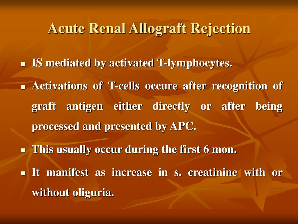Acute Renal Allograft Rejection