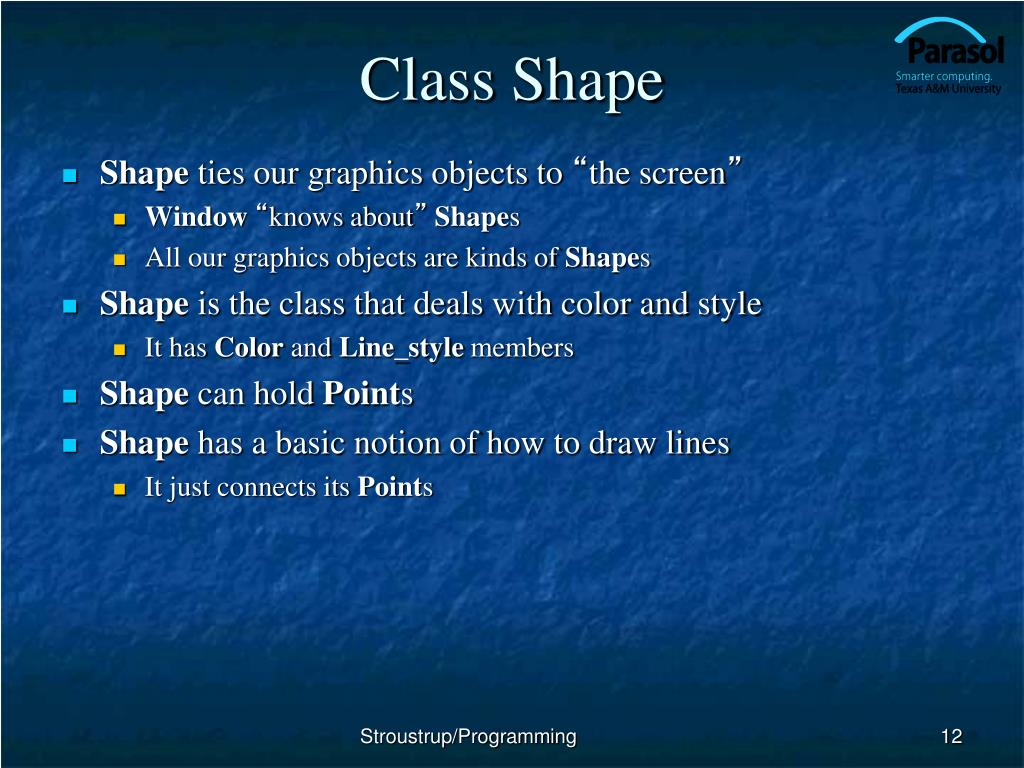 Class Shape