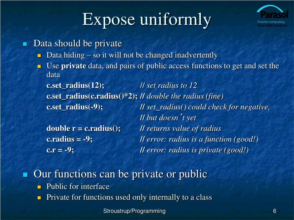 Expose uniformly