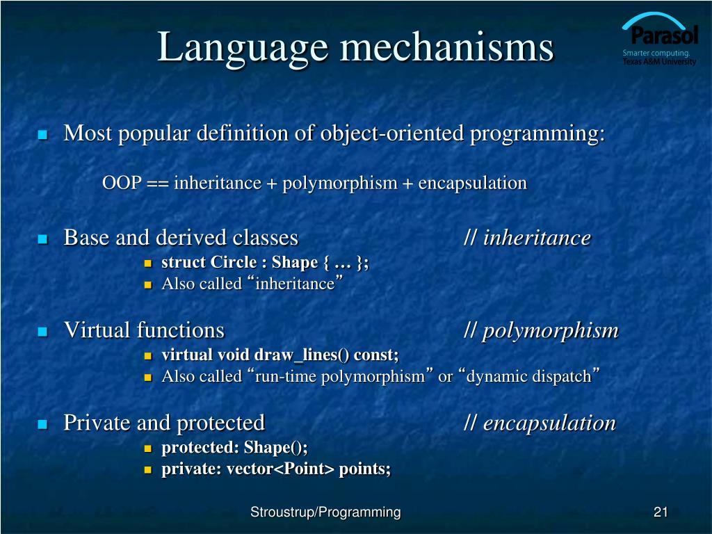 Language mechanisms