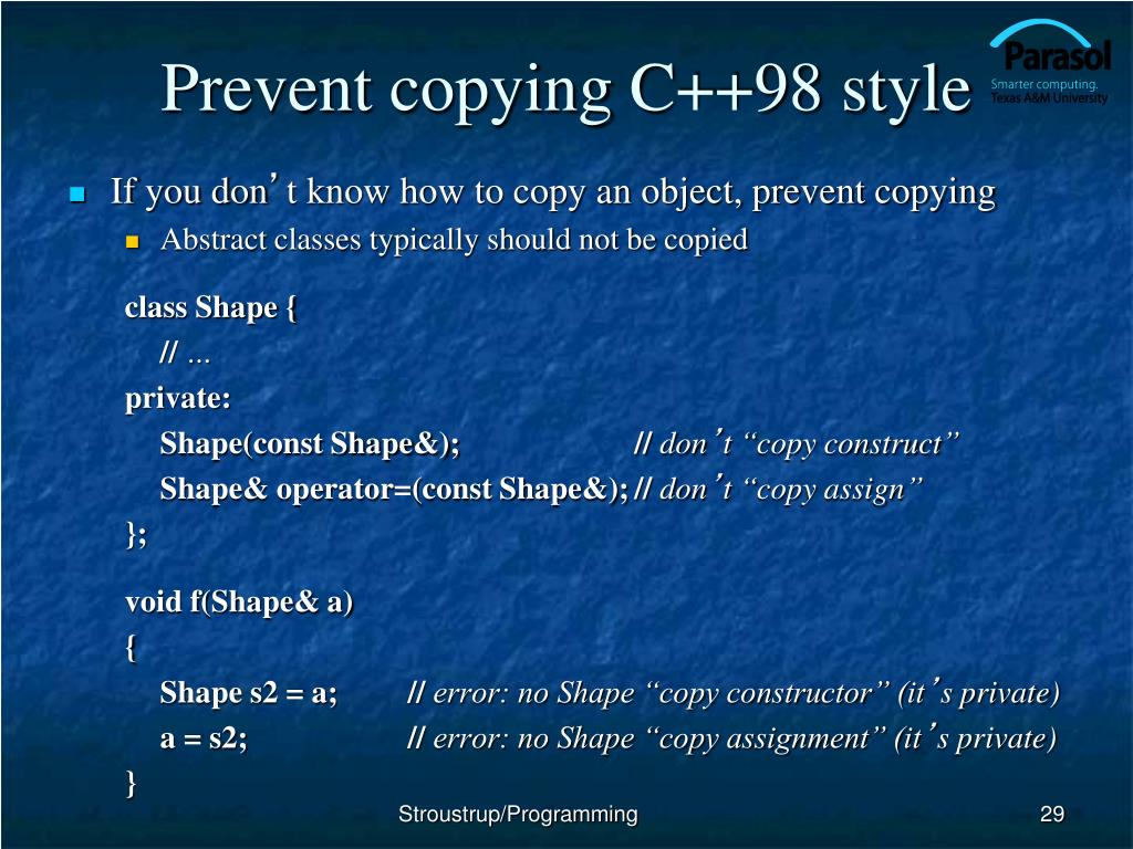 Prevent copying C++98 style