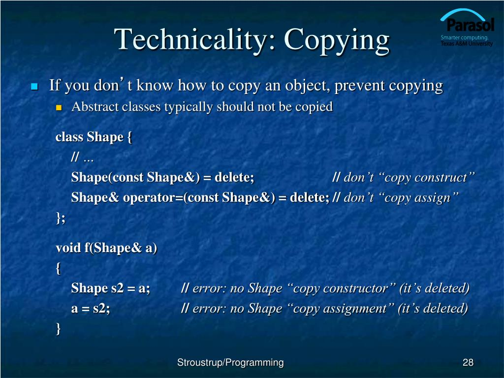 Technicality: Copying