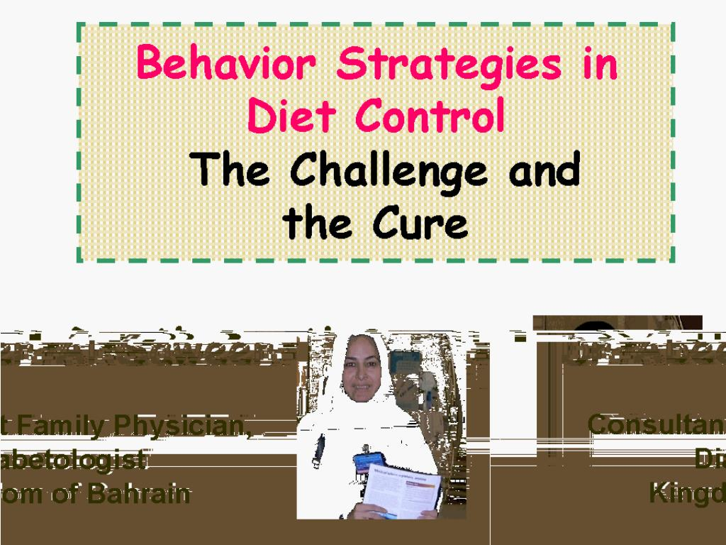 Behavior Strategies in Diet Control