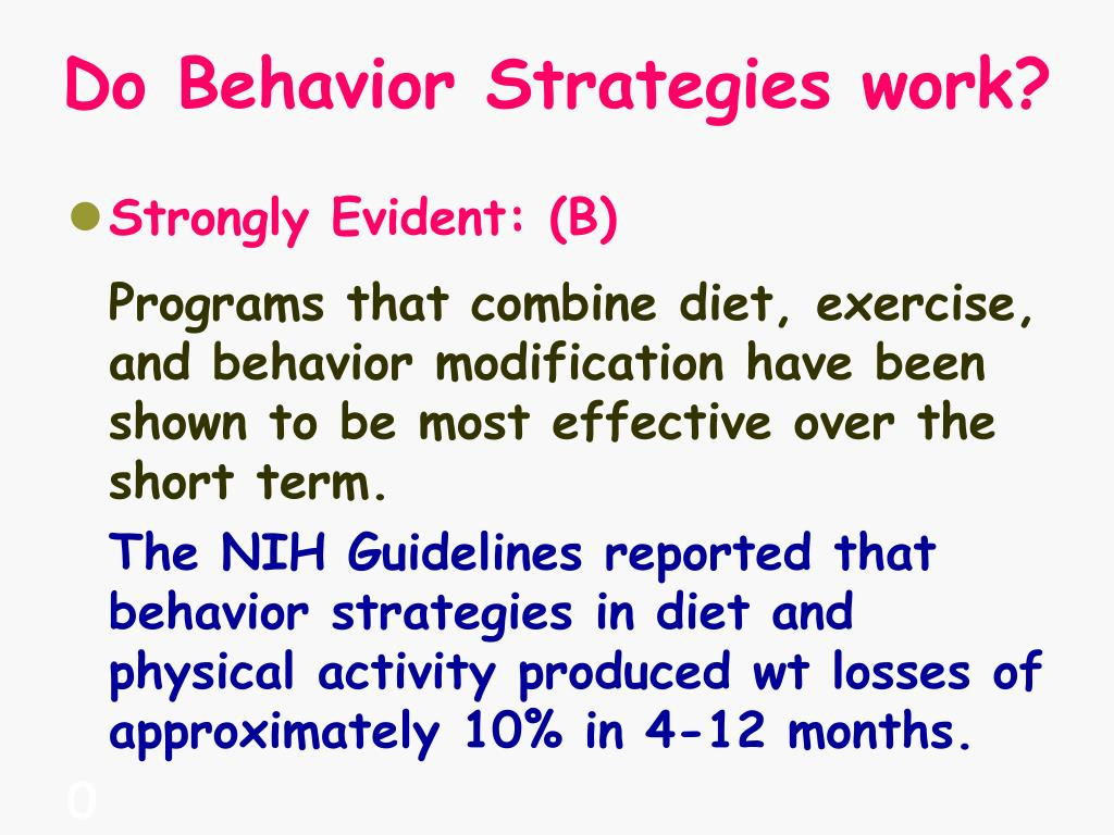 Do Behavior Strategies work?