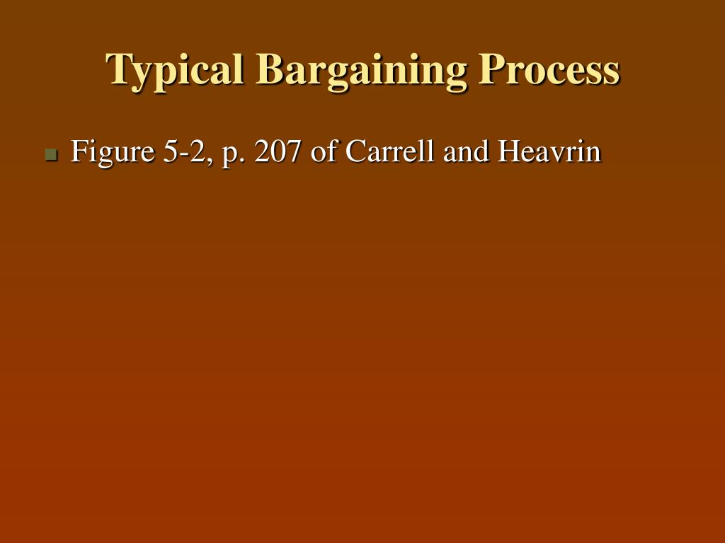 Typical Bargaining Process