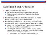 factfinding and arbitration19