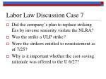 labor law discussion case 7
