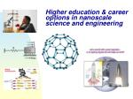 higher education career options in nanoscale science and engineering