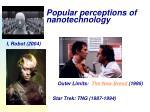 popular perceptions of nanotechnology