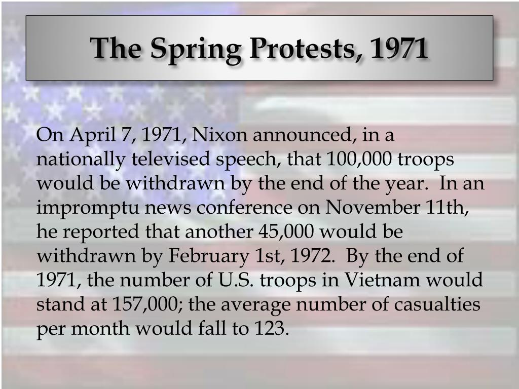 The Spring Protests, 1971