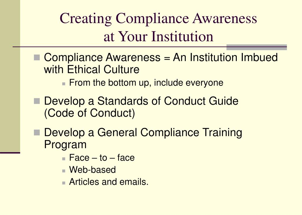 Creating Compliance Awareness