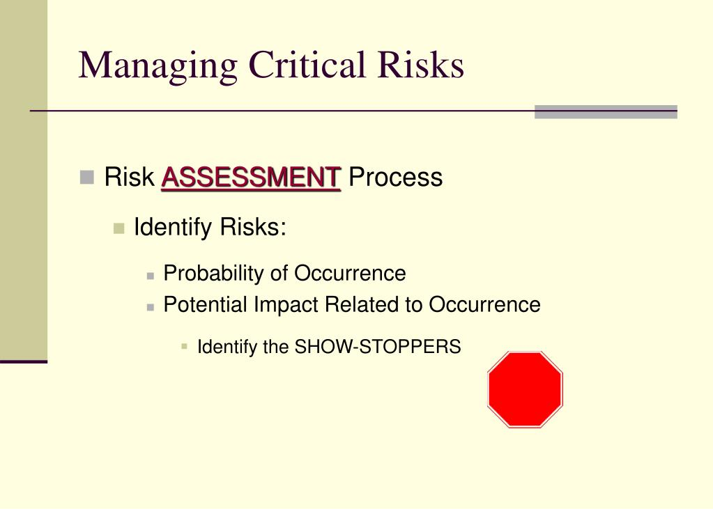 Managing Critical Risks
