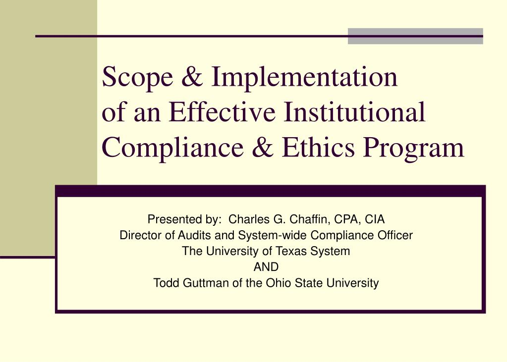 Scope & Implementation
