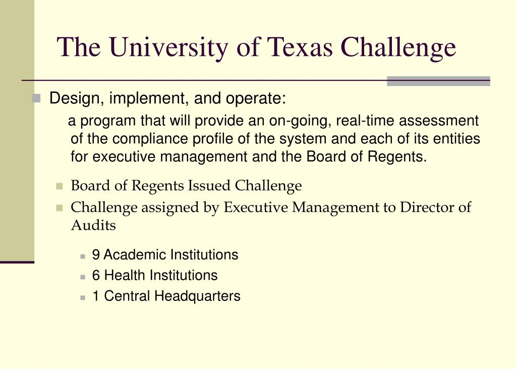 The University of Texas Challenge