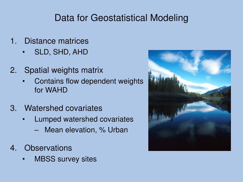 Data for Geostatistical Modeling