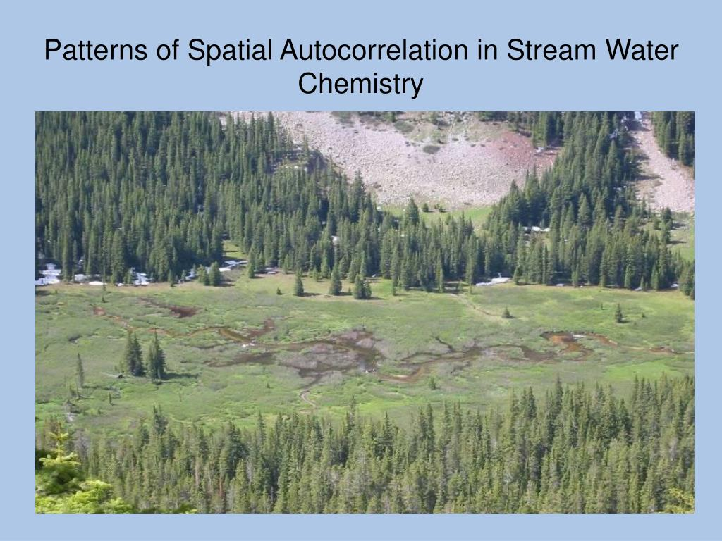 Patterns of Spatial Autocorrelation in Stream Water Chemistry