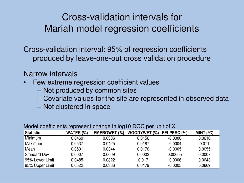 Model coefficients represent change in log10 DOC per unit of X
