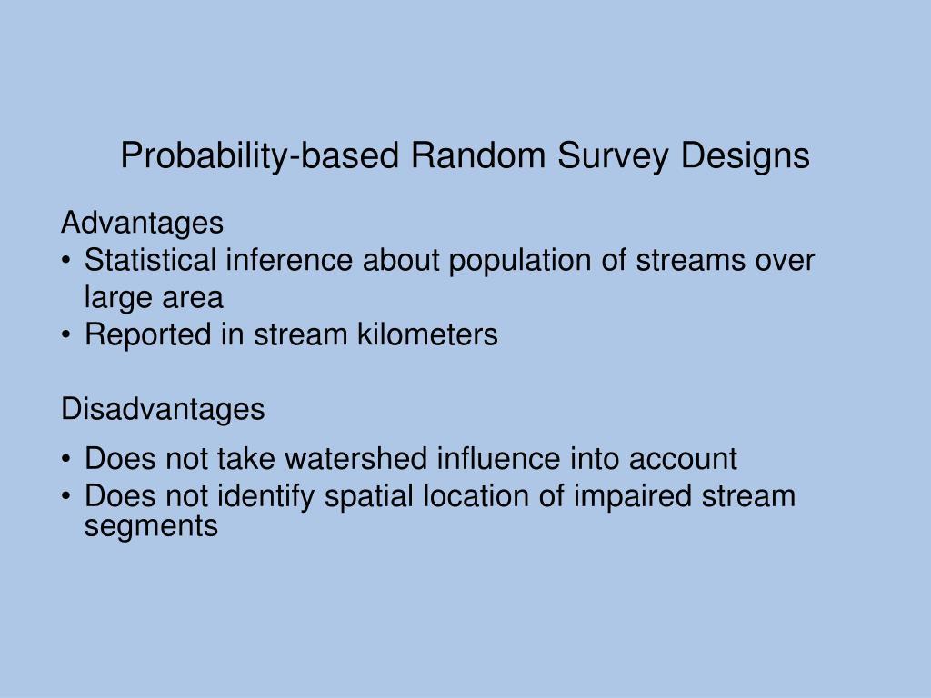 Probability-based Random Survey Designs