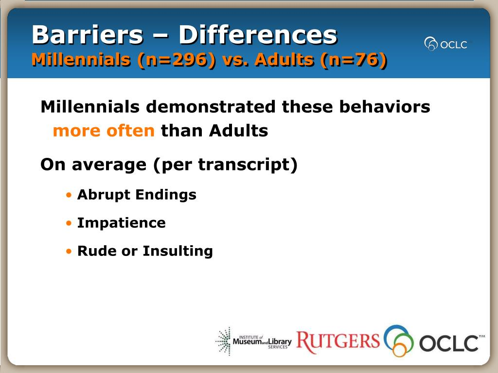 Barriers – Differences