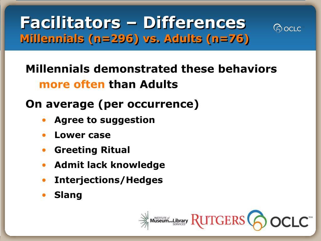 Facilitators – Differences