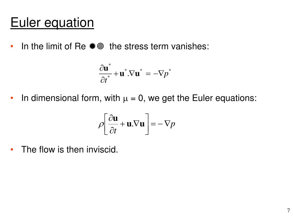 Euler equation