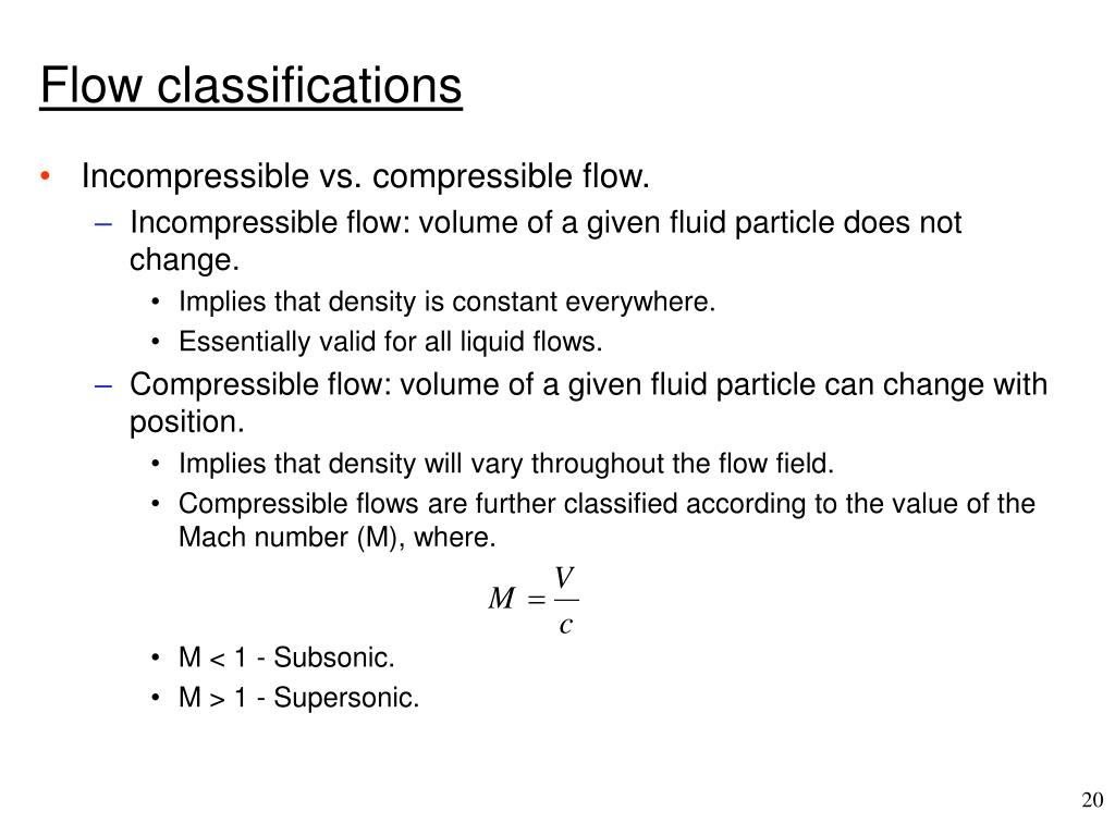Flow classifications