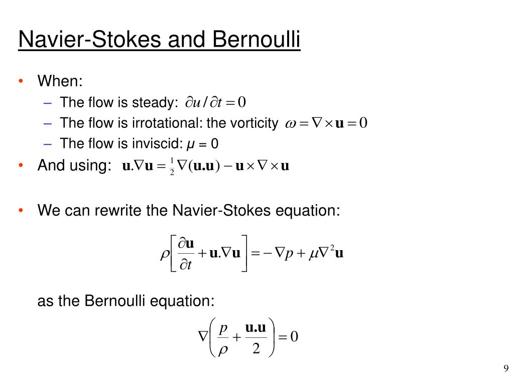 Navier-Stokes and Bernoulli