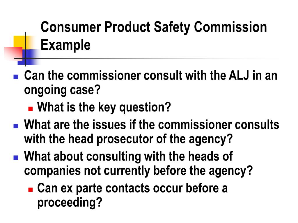 Consumer Product Safety Commission Example